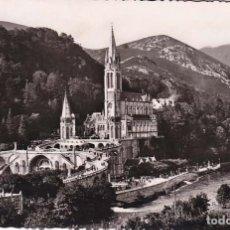 Postales: FRANCIA LOURDES LA BASILICA 1952 POSTAL CIRCULADA. Lote 114261515
