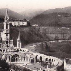 Postales: FRANCIA LOURDES LA BASILICA 1958 POSTAL CIRCULADA. Lote 114514695