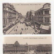 Postales: NUMULITE POSTAL 0320 LYON FRANCE FRANCIA PLACE DES CORDELIERS PONT DE L'UNIVERSITÉ LA GARE. Lote 114671923