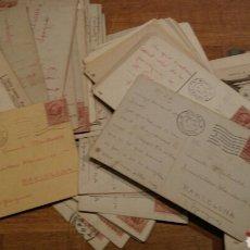 Postales: SUPER LOTE DE 98 POSTALES DE 1911 A 1912 DEDICADAS CON SELLO ITALIA.. Lote 114852376