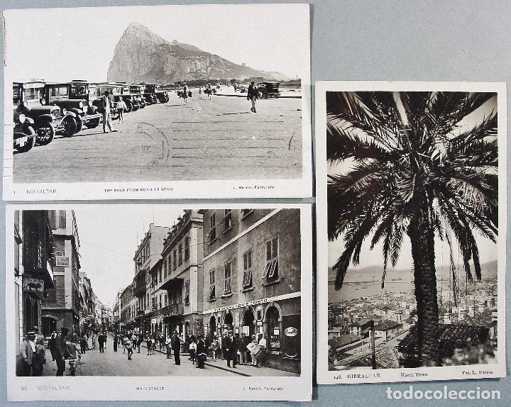 3 POSTALES DE GIBRALTAR. L. ROISIN. FOTOGRÁFICAS. CIRCULADAS. (Postales - Postales Extranjero - Europa)