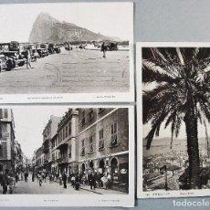 Postales: 3 POSTALES DE GIBRALTAR. L. ROISIN. FOTOGRÁFICAS. CIRCULADAS.. Lote 114992955