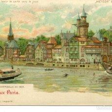 Postales: PARIS- EXPOSITION UNIVERSELLE 1900--LE VIEUX PARIS. Lote 115590151