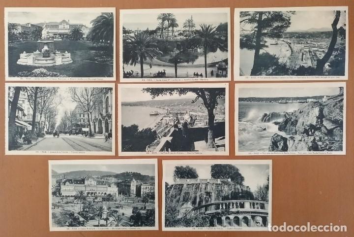 LOTE 8 POSTALES NIZA (NICE) FRANCIA AÑOS 20 SIN CIRCULAR 14 X 9 CM (APROX) (Postales - Postales Extranjero - Europa)