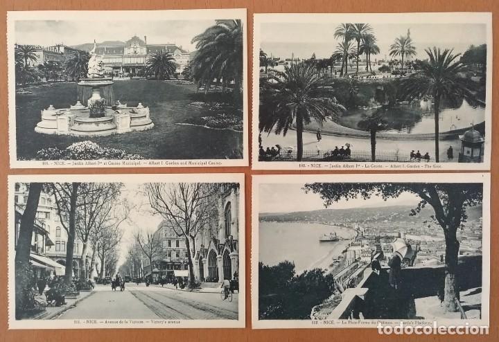 Postales: LOTE 8 POSTALES NIZA (NICE) FRANCIA AÑOS 20 SIN CIRCULAR 14 X 9 CM (APROX) - Foto 2 - 115811719