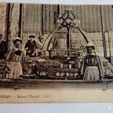Postales: POSTAL ANTIGUA VICHY SOURCE CHOMEL 1924 ESCRITA Y CIRCULADA. Lote 116121075