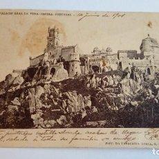 Postales: POSTAL ANTIGUA PALACIO REAL DA PENA CINTRA PORTUGAL 1901 CIRCULADA Y ESCRITA . Lote 116166975