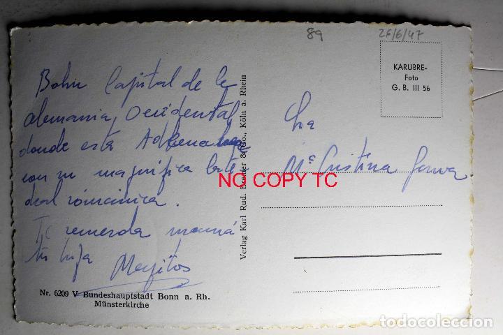 Postales: BUNDESHAUPTSTADT BONN A RH. MÜNSTERKIRCHE - Foto 2 - 116288267