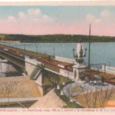 Postales: BRIARE LOIRET . LE PONT-CANAL . ANTIGUA POSTAL DE FRANCIA . Lote 116360723