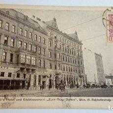 Postales: POSTAL ANTIGUA JOSEF KELL´S HOTEL UNO ETABLISSEMENT 1909 ZUM AUGE GOTTES. Lote 116454443