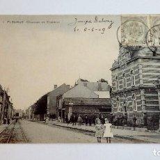 Postales: POSTAL ANTIGUA FLEURUS CHAUSSÉE DE CHARLEROI 1909 CIRCULADA Y ESCRITA . Lote 116454699