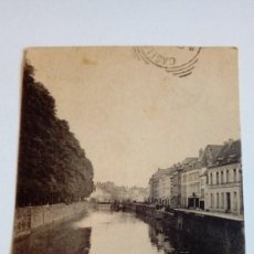 Postales: POSTAL ANTIGUA TOURNAI VUE DE L´ESCAUT 1901 ESCRITA Y CIRCULADA. Lote 116455823