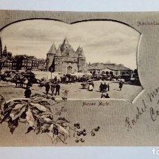 Postales: POSTAL ANTIGUA AMSTERDAM NIUWE MARKT 1901 ESCRITA Y CIRCULADA. Lote 116456183