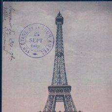 Postales: POSTAL PARIS - LA TOUR EIFFEL - ND 427 - 1 ER ETAGE DE LA TOUR EIFFEL 24 SEP 1905. Lote 116913467