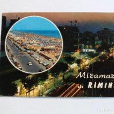 Postales: POSTALES POSTAL 1976 MIRAMARE DI RIMINI ITALIA PLAYA COCHES. Lote 117843999