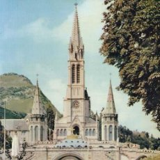 Postales: FRANCIA LOURDES LA BASILICA 1958 POSTAL CIRCULADA. Lote 118562463