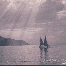Postales: POSTAL SUIZA - SOIR D'ORAGE - LAC LEMAN - CHARNAUX FRERES & CO - CIRCULADA. Lote 118920995