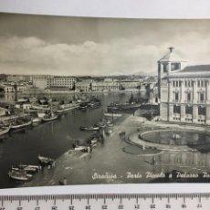 Postales: POSTAL. SIRACUSA. PORTO PICCOLO. VERA FOTOG. H. 1960?. Lote 118950000