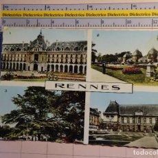 Postales: POSTAL DE FRANCIA. AÑOS 30 50. RENNES, VISTAS. PALAIS JUSTICE, COMMERCE, JARDIN THABOR. 1733. Lote 119297211