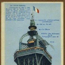 Postales: POSTAL ANTIGUA DE PARIS LA TOUR EIFFEL . Lote 119383143
