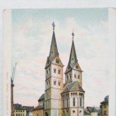 Postales: TARJETA POSTAL ALEMANIA - BOPPARD A. RH. PFARRKIRCHE. DR. TRENCLER CO. POSTKARTE. POST CARD . Lote 119500471
