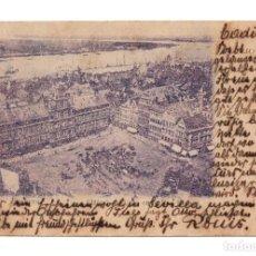 Postales: ANVERS.- AMBERES, BELGICA.- HOTEL DE VILLE ET LE BAS ESCAUT - SELLO PELÓN. Lote 119598939