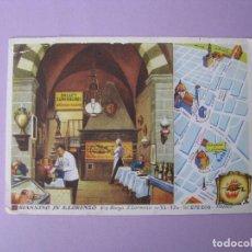 Postales: POSTAL DE ITALIA. PUBLICIDAD DE PIZZERIA GIANNINO IN S. LORENZO. FLORENCIA. CIRCULAD 1963.. Lote 119752763