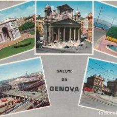 Postales: POSTAL ITALIA SALUTI DA GENOVA. Lote 120003831