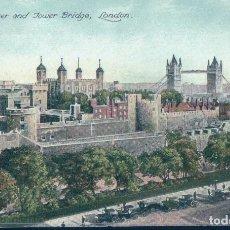 Postales: POSTAL THE TOWER AND TOWER BRIDGE - LONDON - LONDRES - CIRCULADA. Lote 120317383