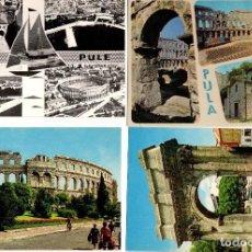 Postales: LOTE DE 48 POSTALES DE CROACIA. COLOR Y B/N. AÑOS 1960. Lote 120504183