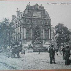 Postales: BELLA POSTAL FRANCIA PARIS Nº 39 FONTAINE SAINT MICHEL SIN EDITOR ANIMADA COCHES CABALLOS PERFECTA C. Lote 120529983