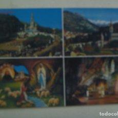 Postales: POSTAL DE LOURDES ( FRANCIA ) : BASILICA , LA APARICION Y LA GRUTA. AÑOS 60. Lote 121521735