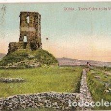 Postales: ITALIA & CIRCULADO, ROMA, TORRE SEICE EN LA VIA APPIA, NÁPOLES A IRLANDA 1908 (2223). Lote 121547863
