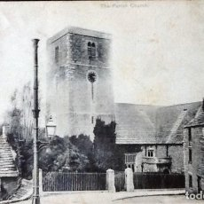 Postales: POSTAL DE IGLESIA PARISH SWANAGE. YVERT 106. 1910. Lote 121548127