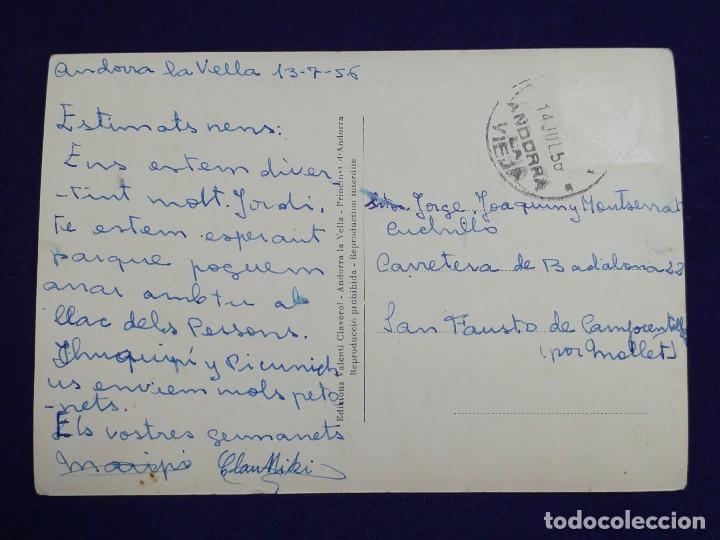Postales: POSTAL DE VALLS D ANDORRA. 271 PORT D ENVALIRA 2409M. I REFUGI FRAY MIQUEL. AÑOS 50 - Foto 2 - 121881055