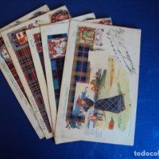Postales: (PS-56420)LOTE DE 5 POSTALES ILUSTRADAS(ESCOCIA). Lote 122888923