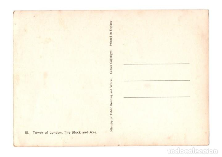 Postales: POSTAL POST CARD CARTE POSTALE TOWER OF LONDON TORRE DE LONDRES THE BLOCK AND AXE EL BLOQUE Y HACHA - Foto 2 - 123095915