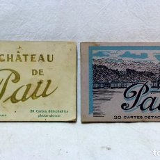 Postales: 2 ÁLBUMES POSTALES PAU Y CHATEAU DE PAU. EDITION LABOUCHE. VER DESCRIPCIÓN.. Lote 123200371
