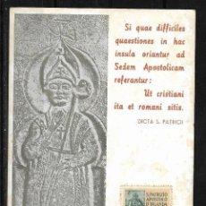Postales: POSTAL VATICANO 1962 TARJETA POSTAL DE SAN PATRICIO . Lote 125943291