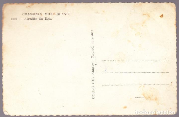 Postales: FRANCIA - CHAMONIX MONT BLANC - AIGUILLE DU DRU - Foto 2 - 125999203