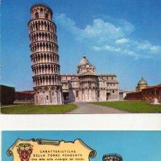 Postales: LOTE 2 POSTALES DE PISA SIN CIRCULAR. Lote 126184315