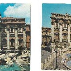 Postales: LOTE DE 2 POSTALES- ROMA.- FONTANA DE TREVI. ITALIA- SIN CIRCULAR (AÑOS 60) . Lote 126554603