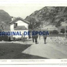 Postales: (PS-57406)POSTAL DE ANDORRA-CANILLO.LES FORÇES FRANÇESAS PATRULLANT PELS CARRES.FOTO FALIP. Lote 127573771