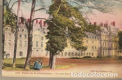 FRANCIA & FONTAINEBLEAU, PALACIO VISTO EN EL JARDÍN INGLÉS, ALA DE LUIS XV, PARÍS, IRLANDA 1922 (193 (Postales - Postales Extranjero - Europa)