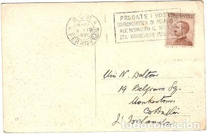 Postales: Italia & Circulado, Foro Romano del Campidoglio, Irlanda 1921 (4333) - Foto 2 - 127979339