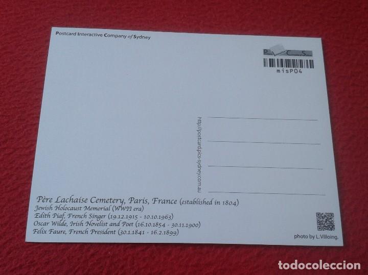 Postales: POSTAL POST CARD PÈRE LACHAÍSE CEMENTERY CEMENTERIO PARÍS JEWISH HOLOCAUST OSCAR WILDE HOLOCAUSTO... - Foto 2 - 128072847
