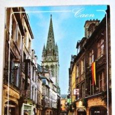 Postales: POSTAL CAEN , LA RUE FROIDE , EDITIONS NORMANDES LE GOUBEY -CIRCULADA 1992. Lote 128332259