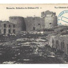 Postales: ANCIENNE POSTALE MARSEILLE.- COLLECTION DU CHÂTEAU D'IF, VUE GÉNÉRALE DES RUINES. FRANCE- FRANCIA. Lote 129079207