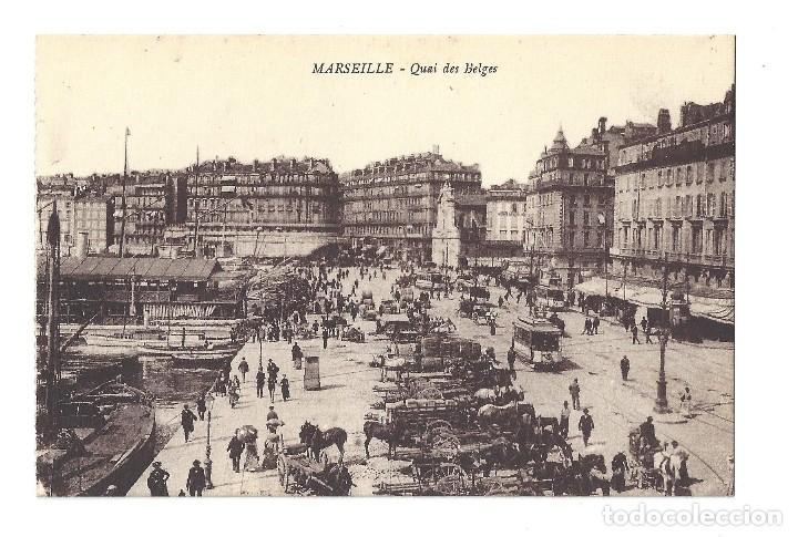 ANCIENNE POSTALE MARSEILLE.- QUAI DES BELGES. FRANCE- FRANCIA (Postales - Postales Extranjero - Europa)