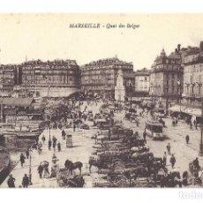 Postales: ANCIENNE POSTALE MARSEILLE.- QUAI DES BELGES. FRANCE- FRANCIA . Lote 129079771